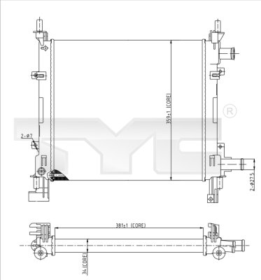 Radiateur, refroidissement du moteur - TYC - 710-0042-R