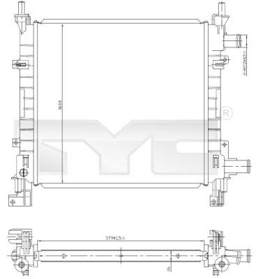 Radiateur, refroidissement du moteur - TCE - 99-710-0042