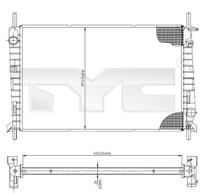 Radiateur, refroidissement du moteur - TYC - 710-0045