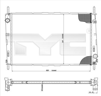 Radiateur, refroidissement du moteur - TCE - 99-710-0046