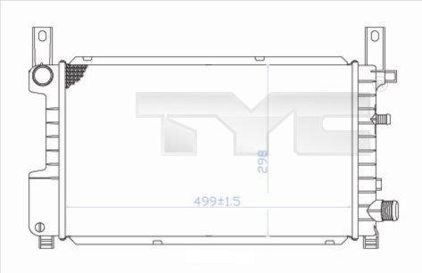 Radiateur, refroidissement du moteur - TYC - 710-0049
