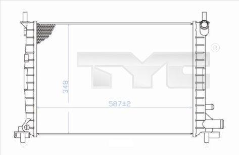 Radiateur, refroidissement du moteur - TYC - 710-0051
