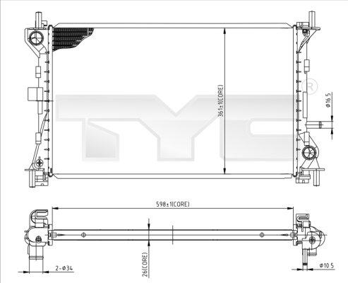 Radiateur, refroidissement du moteur - TCE - 99-710-0052