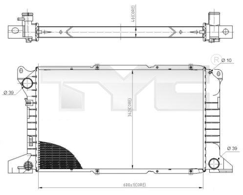 Radiateur, refroidissement du moteur - TYC - 710-0053