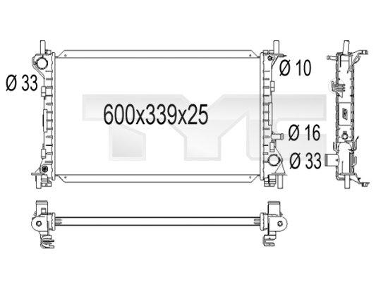 Radiateur, refroidissement du moteur - TCE - 99-710-1001