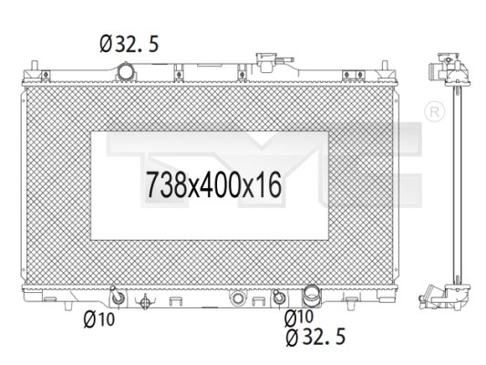 Radiateur, refroidissement du moteur - TCE - 99-712-1006