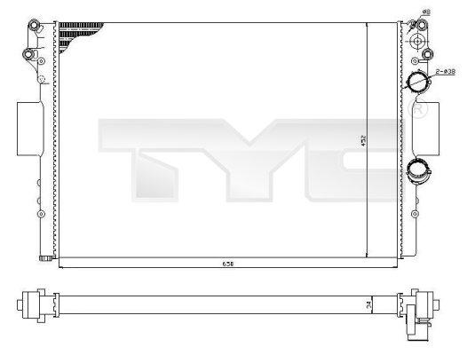 Radiateur, refroidissement du moteur - TYC - 715-0001-R