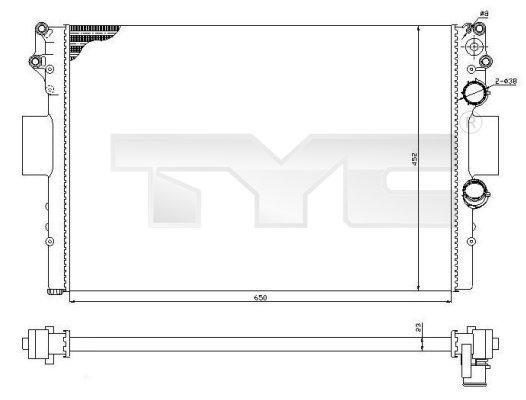 Radiateur, refroidissement du moteur - TYC - 715-0002-R