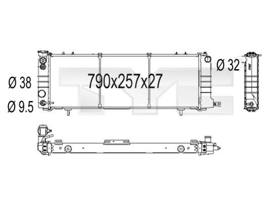 Radiateur, refroidissement du moteur - TYC - 716-1001