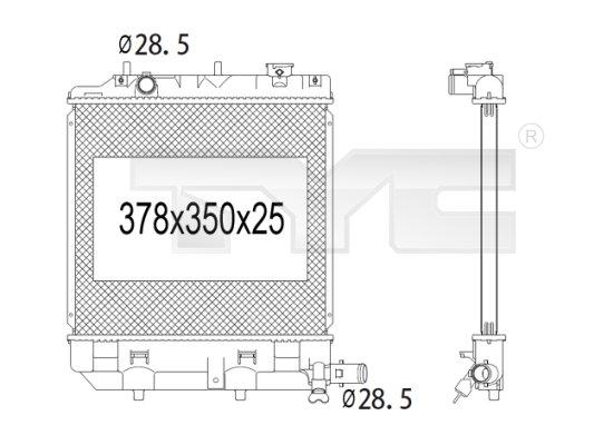 Radiateur, refroidissement du moteur - TCE - 99-720-1003