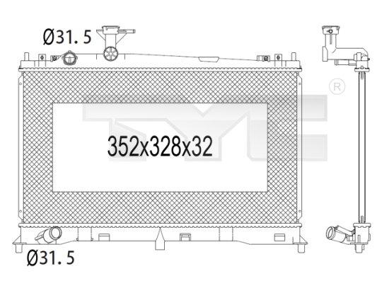 Radiateur, refroidissement du moteur - TYC - 720-1004
