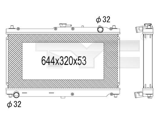 Radiateur, refroidissement du moteur - TYC - 720-1005