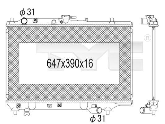 Radiateur, refroidissement du moteur - TYC - 720-1007