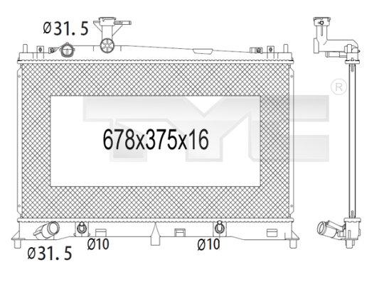 Radiateur, refroidissement du moteur - TCE - 99-720-1008