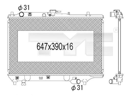 Radiateur, refroidissement du moteur - TCE - 99-720-1009