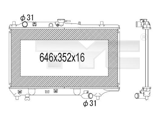 Radiateur, refroidissement du moteur - TYC - 720-1010