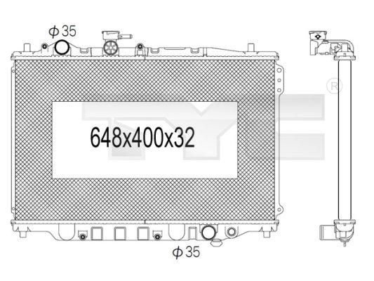 Radiateur, refroidissement du moteur - TCE - 99-720-1011