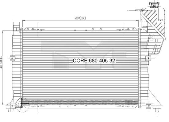 Radiateur, refroidissement du moteur - TCE - 99-721-0007