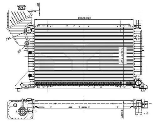 Radiateur, refroidissement du moteur - TYC - 721-0010