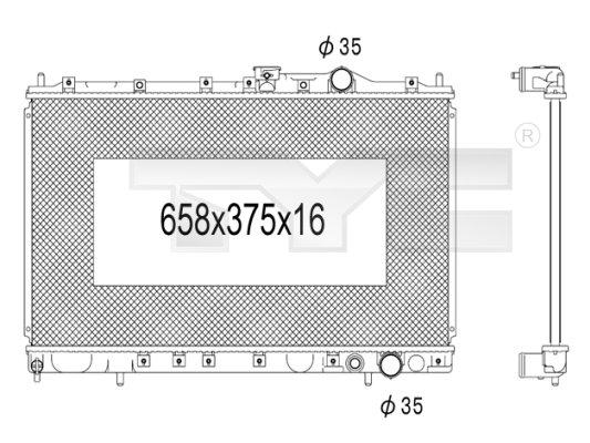 Radiateur, refroidissement du moteur - TYC - 723-1001