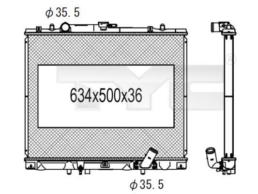 Radiateur, refroidissement du moteur - TCE - 99-723-1003
