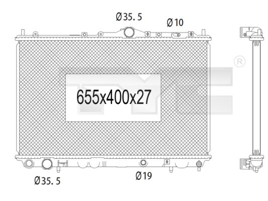 Radiateur, refroidissement du moteur - TYC - 723-1004