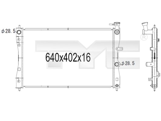 Radiateur, refroidissement du moteur - TYC - 723-1006