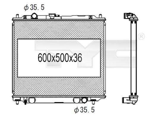 Radiateur, refroidissement du moteur - TCE - 99-723-1008