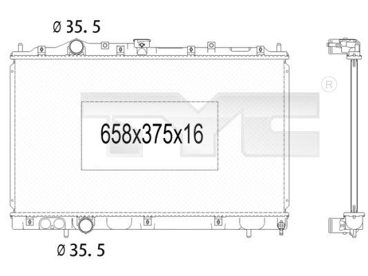 Radiateur, refroidissement du moteur - TYC - 723-1009