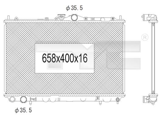 Radiateur, refroidissement du moteur - TYC - 723-1010