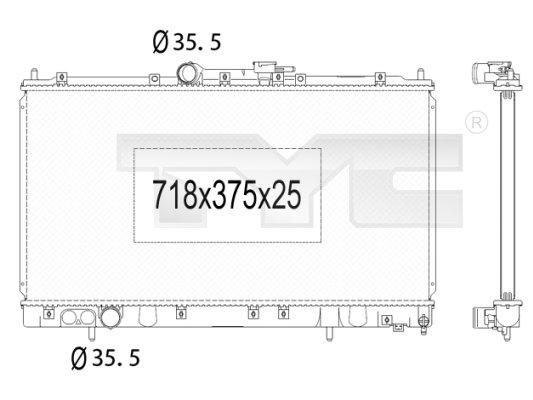 Radiateur, refroidissement du moteur - TYC - 723-1011