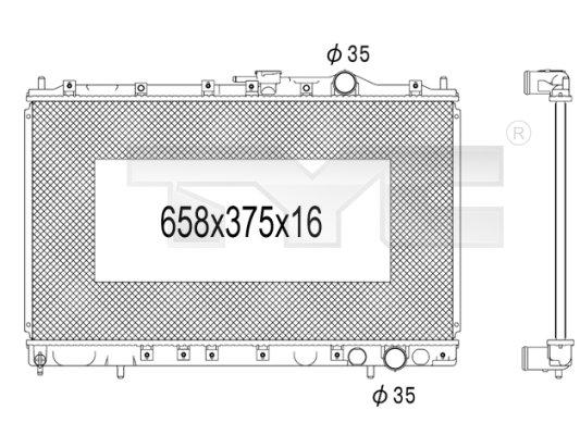 Radiateur, refroidissement du moteur - TYC - 723-1012