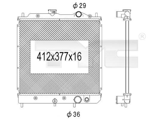 Radiateur, refroidissement du moteur - TYC - 723-1013