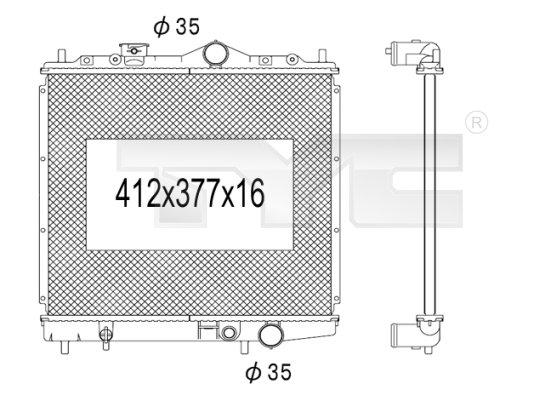 Radiateur, refroidissement du moteur - TCE - 99-723-1015