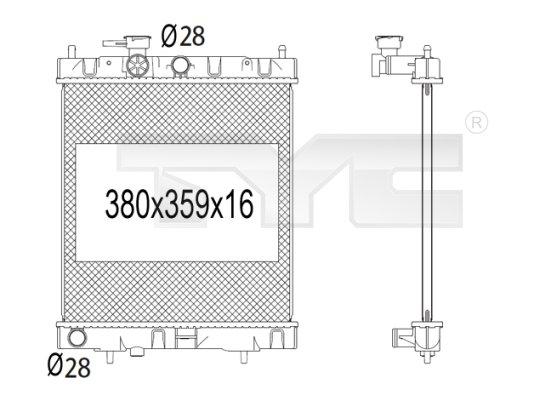 Radiateur, refroidissement du moteur - TCE - 99-724-1001
