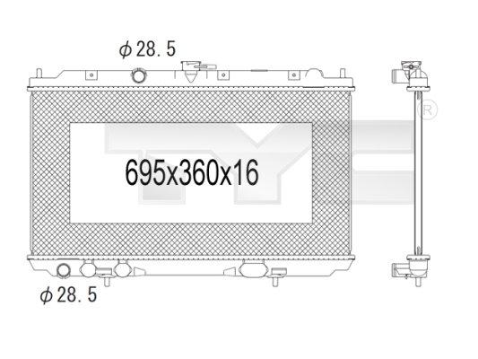 Radiateur, refroidissement du moteur - TYC - 724-1002