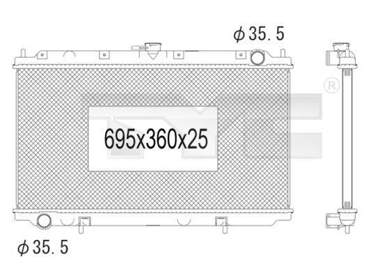 Radiateur, refroidissement du moteur - TCE - 99-724-1003
