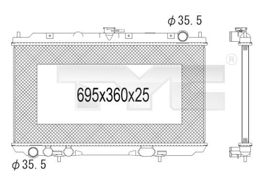 Radiateur, refroidissement du moteur - TYC - 724-1004