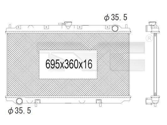 Radiateur, refroidissement du moteur - TYC - 724-1009