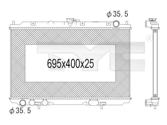 Radiateur, refroidissement du moteur - TYC - 724-1010