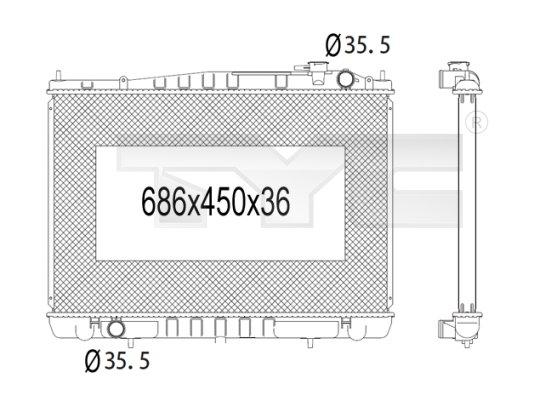 Radiateur, refroidissement du moteur - TYC - 724-1011