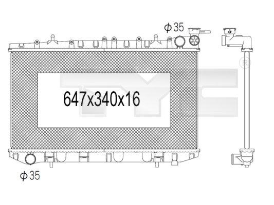 Radiateur, refroidissement du moteur - TYC - 724-1012