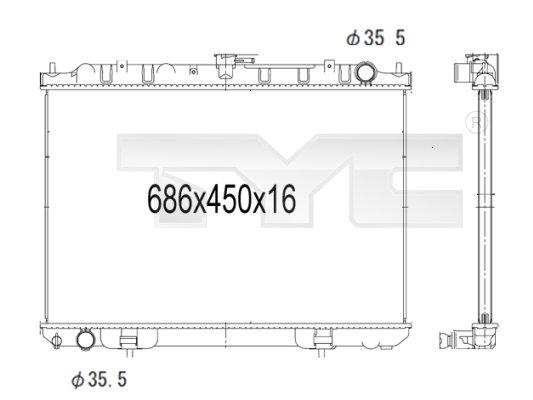 Radiateur, refroidissement du moteur - TYC - 724-1013