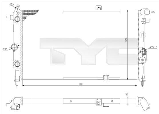 Radiateur, refroidissement du moteur - TCE - 99-725-0001-R