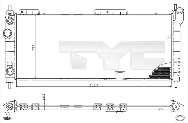 Radiateur, refroidissement du moteur - TYC - 725-0003