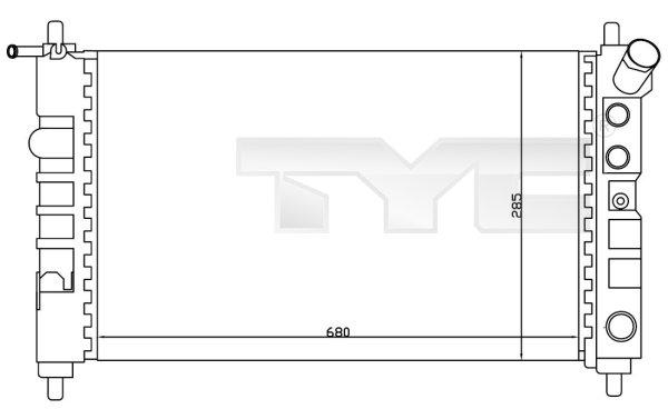 Radiateur, refroidissement du moteur - TYC - 725-0005