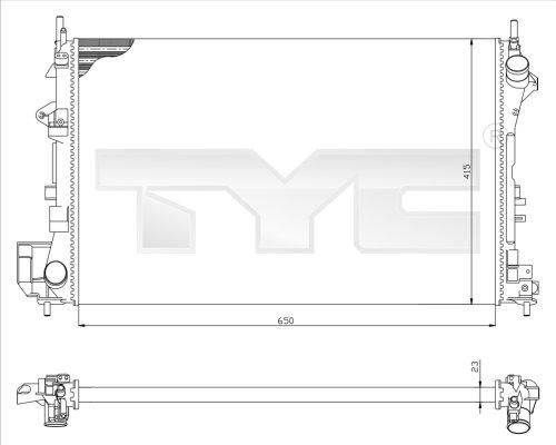 Radiateur, refroidissement du moteur - TYC - 725-0009