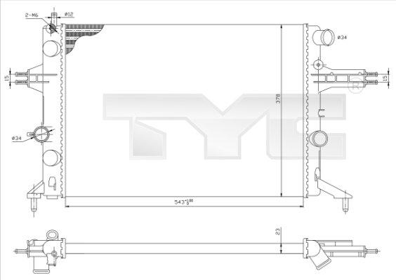 Radiateur, refroidissement du moteur - TCE - 99-725-0021