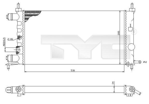 Radiateur, refroidissement du moteur - TYC - 725-0025-R
