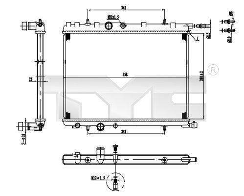 Radiateur, refroidissement du moteur - TYC - 726-0016